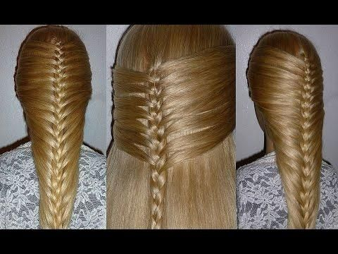 Easy And Quick French Braid Hairstyle. Back To School Hairstyles. Penteados