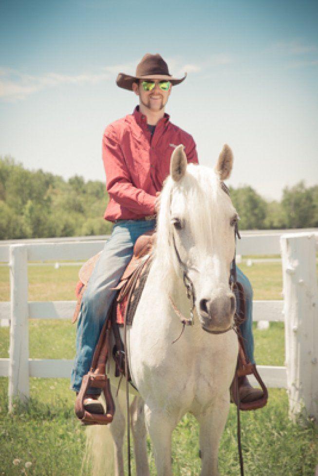 #Cowboy #whitehorse #horse