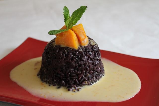 Winter Squash Recipes - Thai Black Sweet Rice with Kabocha Cream