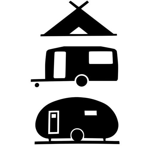Wonderful Travel Trailer  Camper  RV Clip Art Image By IDrawSilhouettes