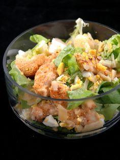 Salade césar au poulet light - Recette de cuisine Marmiton : une recette