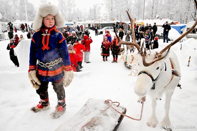 400+ year old Sami Market in Swedish Lapland