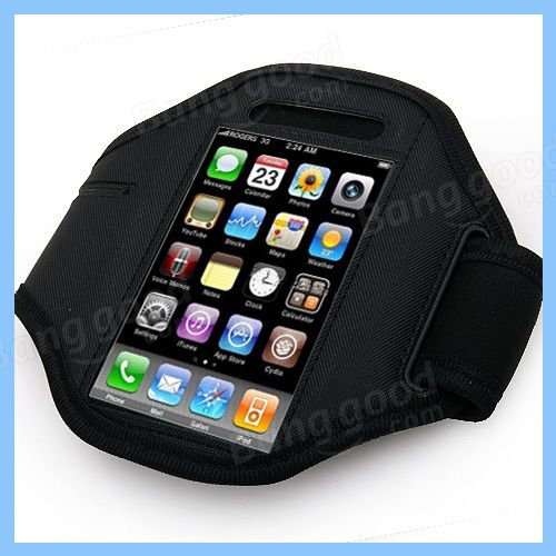New Black Sports Armband Cover Case for iPhone 4 4G - US$2.59