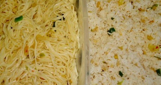 Kerstmenu 2014: Een veganistische Chinese kerst menu en daar hoort als basis natuurlijk gebakken mie of rijstbij.