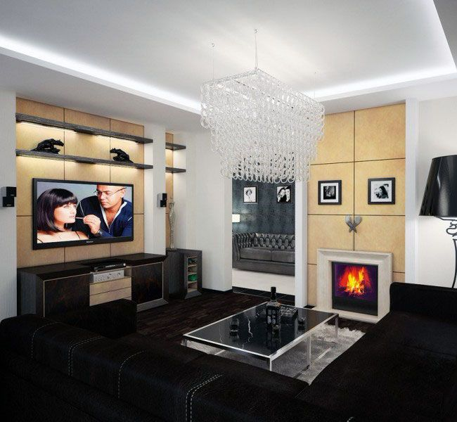 Modern Recessed Ceiling Lights In Living Room