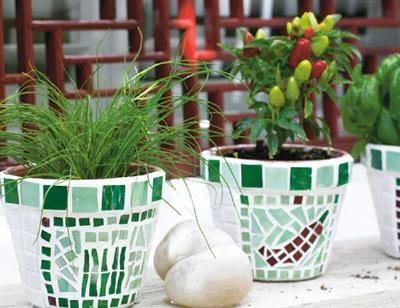 How to Make a Mosaic Pot