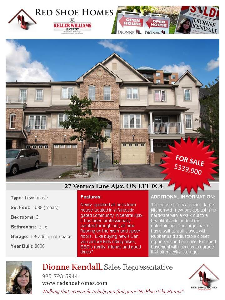 TOWN HOUSE FOR SALE AJAX