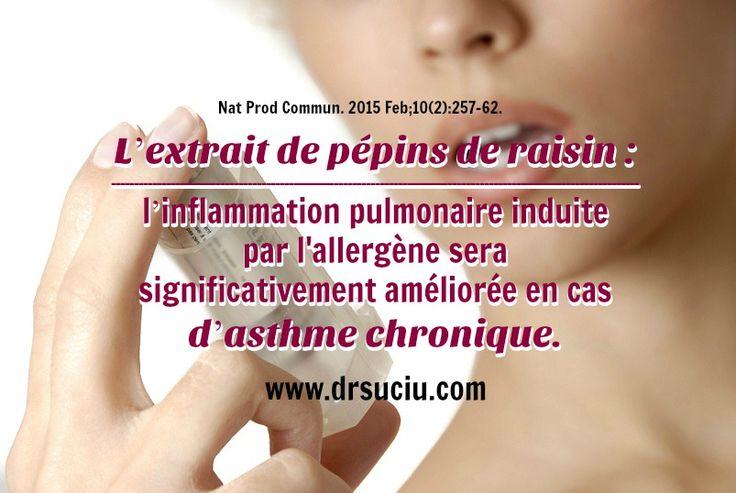 Photo drsuciu L'extrait de pépins de raisin et l'asthme