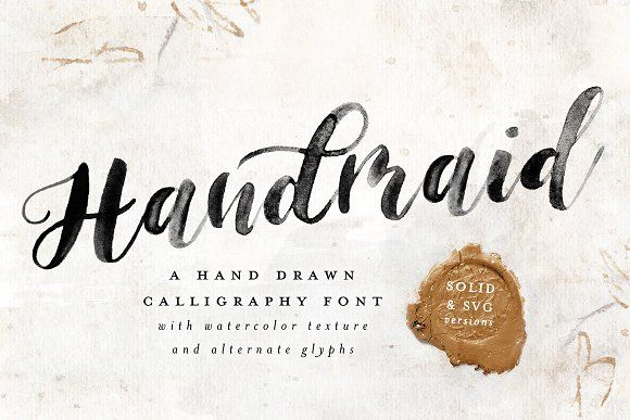 Handmaid Svg Solid Font By Pinkhousepress On Creativemarket