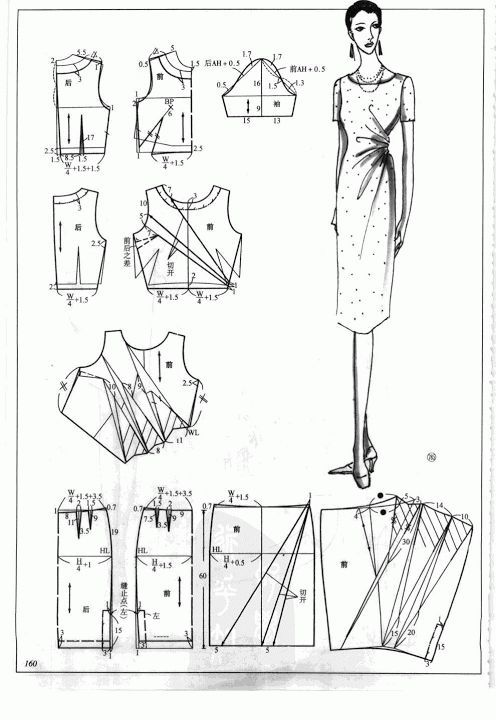 DIY Women's Clothing : Chinese method of pattern making- Dresses, dresses,dresses ( beginning from the ...  https://diypick.com/fashion/diy-clothes/diy-womens-clothing-chinese-method-of-pattern-making-dresses-dressesdresses-beginning-from-the/