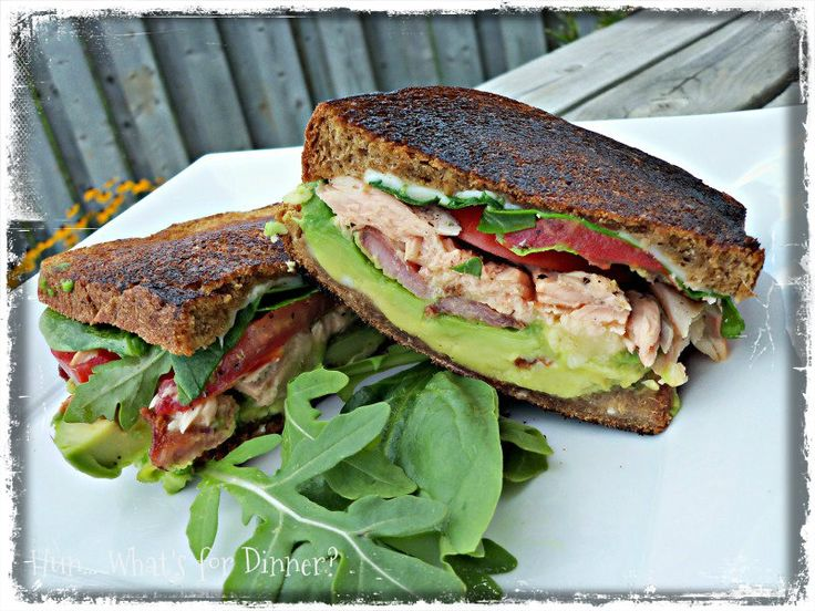 Salmon Cobb Grilled Sandwiches | sandwiches | Pinterest