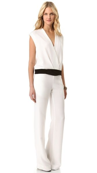 I don't normally like jumpsuits with my shape but I really like this ... ONE by 5th & Mercer by La La & Jason Bolden Sleeveless Jumpsuit