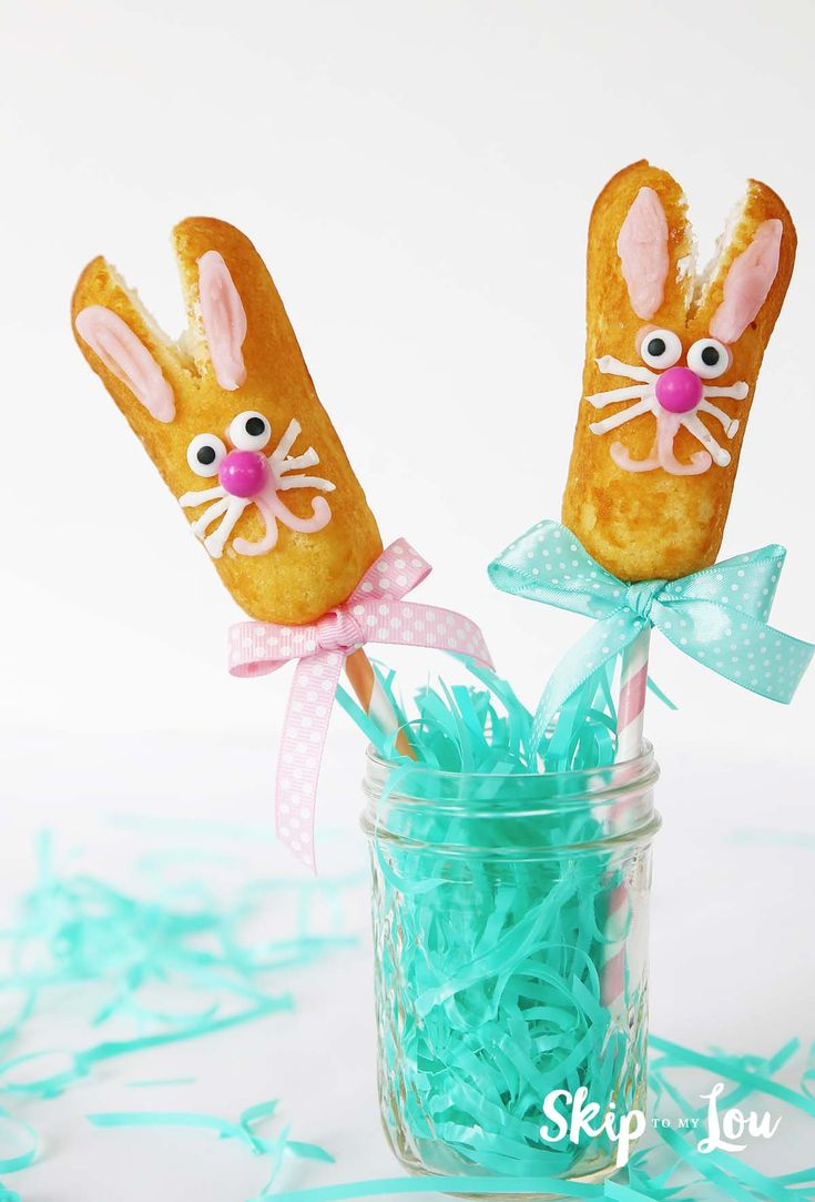 How About A Little Fun Food For Easter! These Twinkie Bunny Pops Are Super  Quick