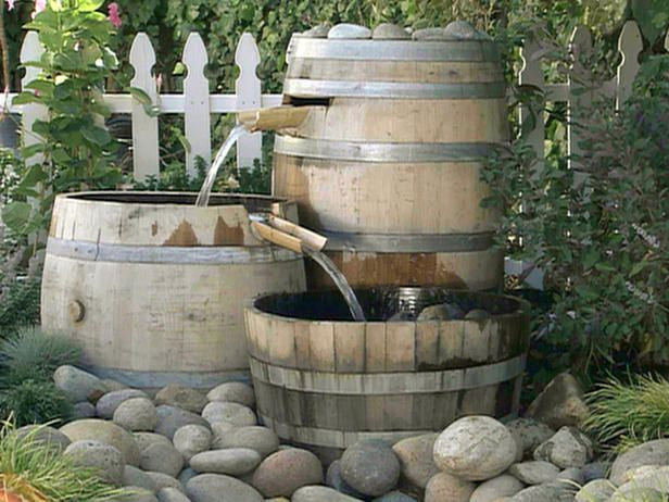 Could I do this with different size plastic buckets wrapped in burlap? By the time the burlap rotted, maybe I could get moss to grow on them? Or just paint them terra cotta?: