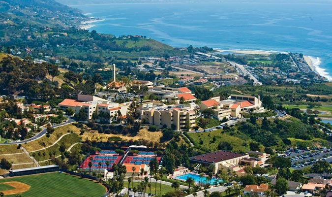 I guess there's worse places to spend 4 years getting an education.  Pepperdine University, Malibu CA