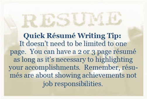 Quick Resume Writing Tip - Resumes and more Pinterest - writing one page resume