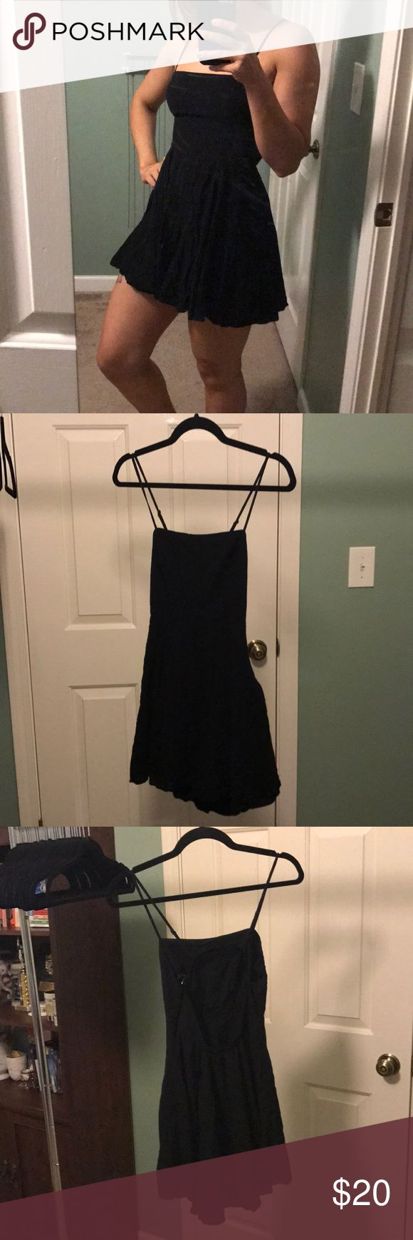 Silence + Noise Skater LBD Pre owned but excellent condition, only worn once. Rayon construction so it has a very soft, almost buttery hand. Side zipper. Elastic 'U' cutout at back. Urban Outfitters Dresses