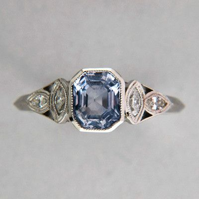 1920s sapphire ring