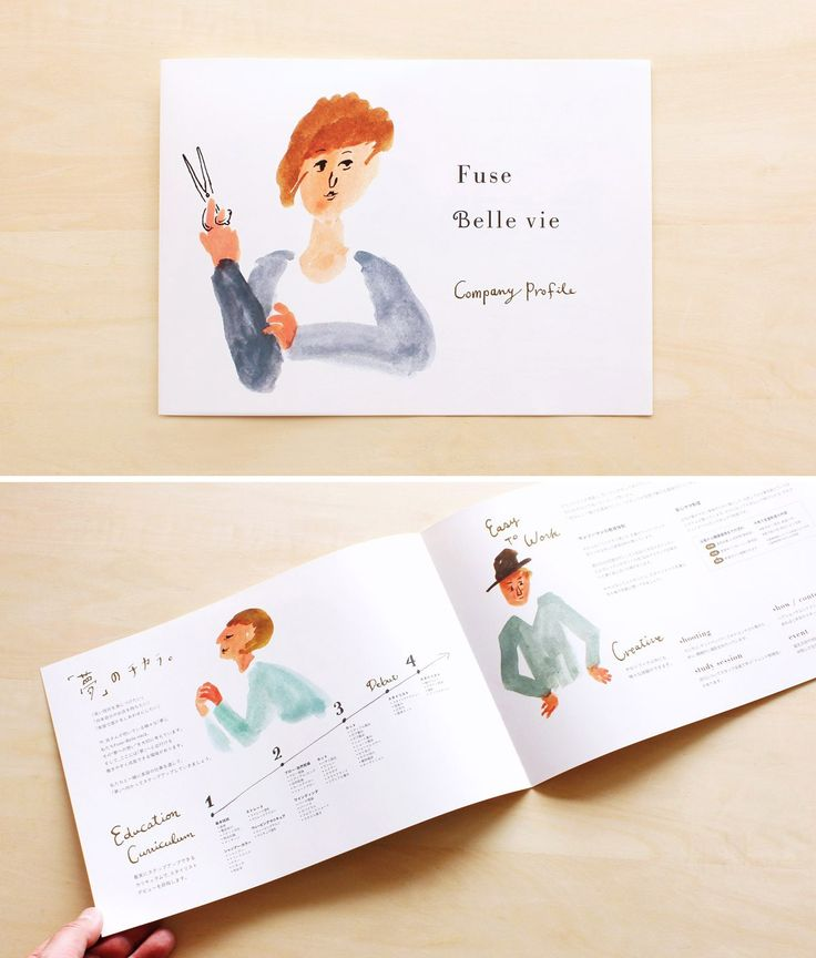 Fuse / Belle vie 大阪・美容室の会社案内パンフレット - ALNICO DESIGN アルニコデザイン