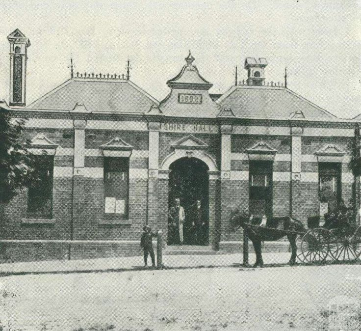The Shire Hall at Box Hill, Victoria in 1889.