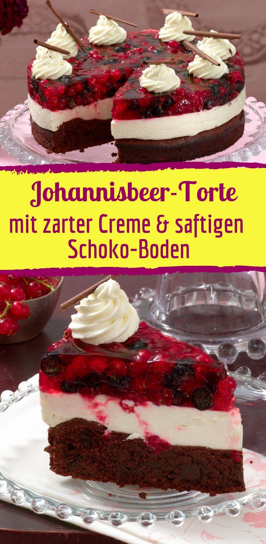 Rezept für Johannisbeer-Amarettini-Torte – Bild der Frau