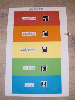Geluidsmeter op papier voor in de klas. In dit geval heb je geen digitaal schoolbord of ipad nodig.