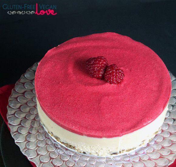 Heavenly Raw Vegan White Chocolate and Raspberry Cheesecake {Gluten-Free, Paleo}