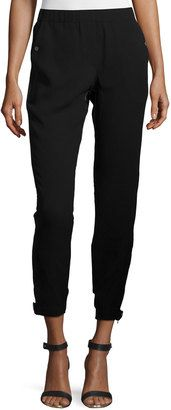 Halston Heritage Mid-Rise Combo Jogger Pants, Black - Shop for women's Pants - BLACK Pants