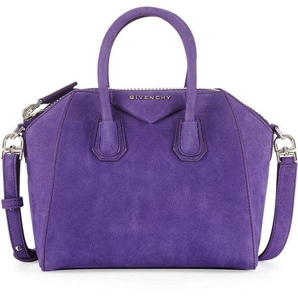 Givenchy Antigona Mini Nubuck Satchel Bag, Purple found on Polyvore