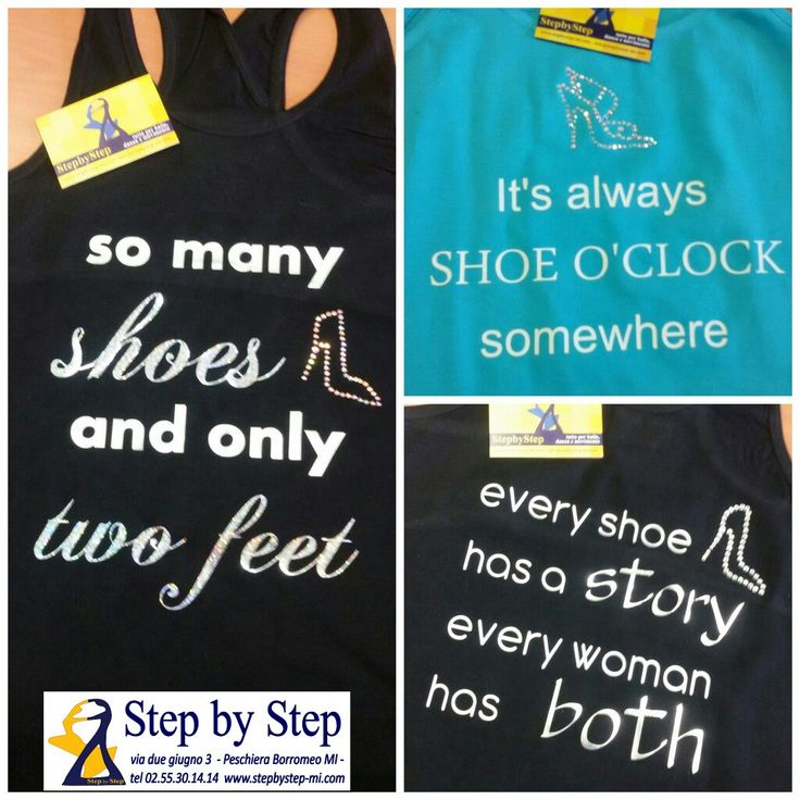 Nuove canotte con stampe e strass della linea ***SHOES ADDICT*** Solo da Step by Step  #girlpower #stepbystep #stepbystepshoes #scarpedaballo #danceshoes #tshirt #rhinestone #strass #shoesaddict