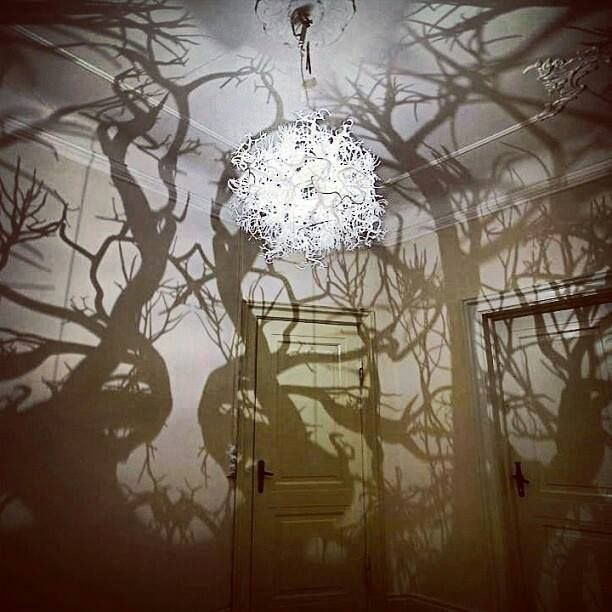 This Has Got To Be The Coolest Chandelier Ever It Turns Your Room Into A Shadowy Forest