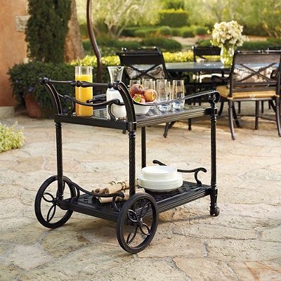 Carlisle Serving Cart In Onyx Finish - Frontgate