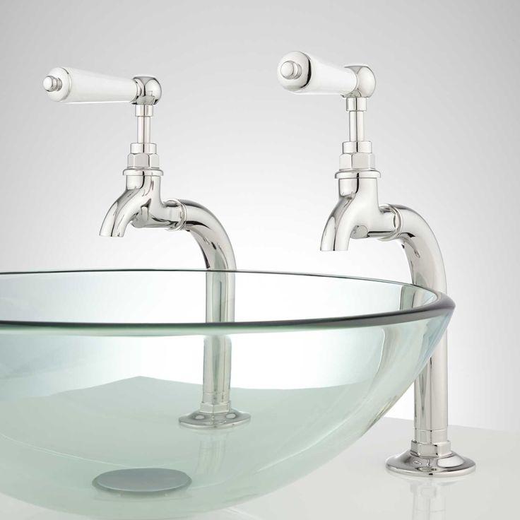 Romanova Bathroom Basin Taps with Pop-Up Drain - Overflow - Chrome