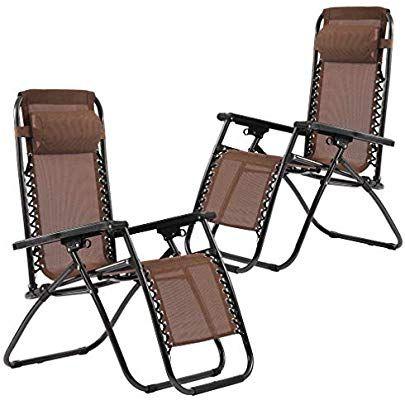 fdw set of 2 zero gravity chairs lounge patio chairs outdoor yard rh pinterest com