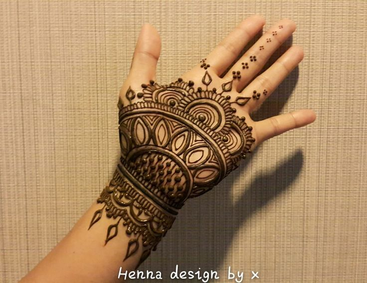 Mehndi Palm Design : Henna palm my work pinterest