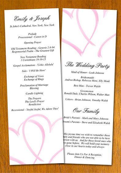 The  Best Wedding Program Examples Ideas On
