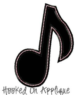 Music Note Applique *FREE*