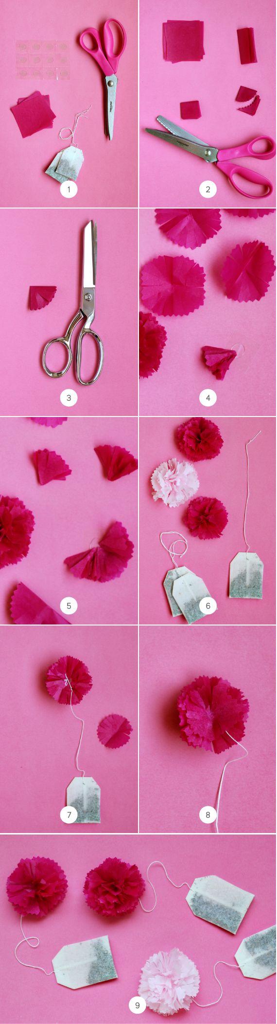 Mother's Day Brunch Idea: DIY Tea Poms