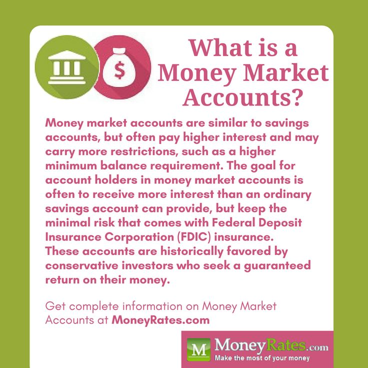 Money market accounts offer the opportunity to find better #interestrates without taking on more risk than with #savingsaccounts.
