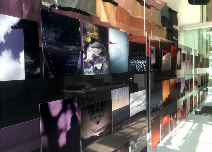 A detail of the photographs - part of the 'Find your color' installation in the studio in Amsterdam