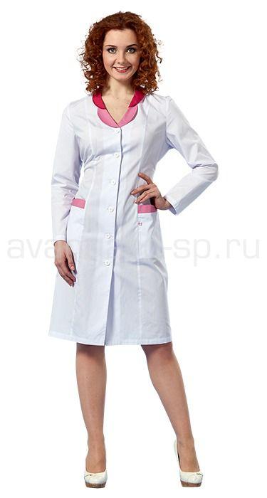 """Халат женский L1101 Lantana / Халаты / Женская одежда """"Lantana"""" / Медицинская одежда"""