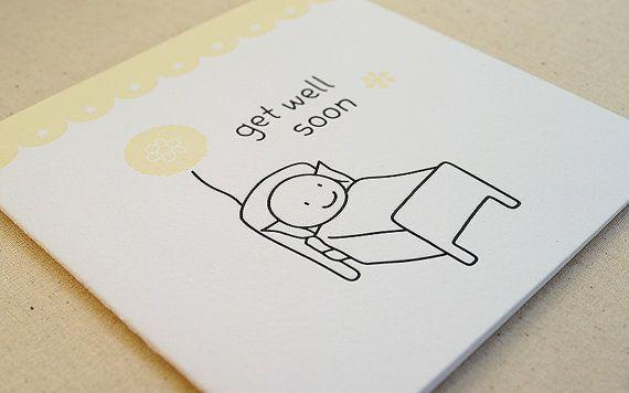 Get Well Soon / Letterpress Card