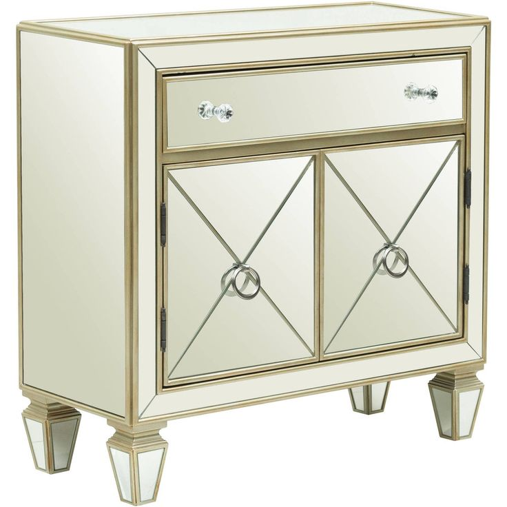 Mirrored Accent Chest Sideboard Table Drawer Doors With Mirrors Silver Furniture: $353.31End Date: Feb-28 07:04Buy It Now for… #eBay #Amazon