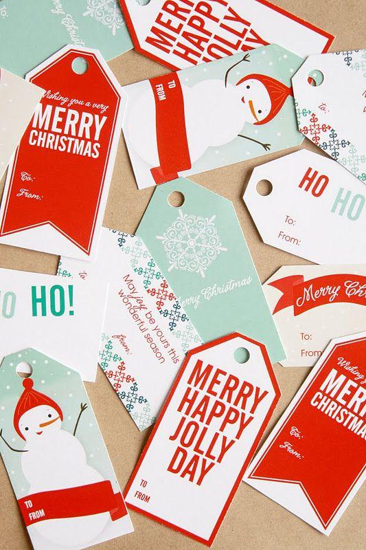 free printable: dangly gift tags