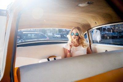 Une course bien arrosée dans les taxis jaunes Veuve Clicquot
