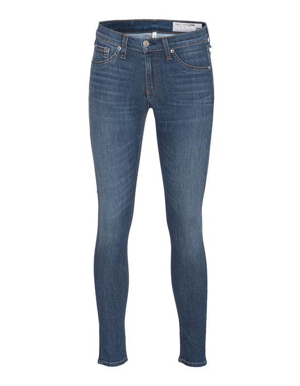 Cropped Skinny Jeans Blaue Skinny-Jeans aus einer stretchigen Materialmischung im figurbetonten Schnitt mit leichtem Washed-Out-Finish in trendiger Cropped-Länge und mit dezenter Label-Stickerei auf der Gesäßtasche.  Schmiegt sich dem Körper perfekt an und passt zu jedem Look!