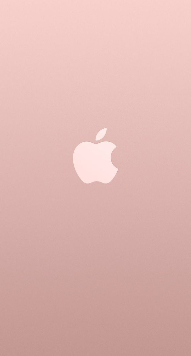 アップルロゴローズゴールドカラー iPhone壁紙 Wallpaper Backgrounds iPhone6/6S and Plus  Apple Logo Rose Gold