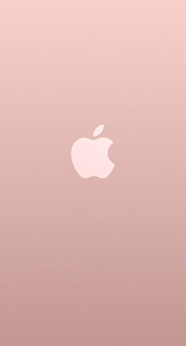 アップルロゴローズゴールドカラー iPhone壁紙 Wallpaper Backgrounds iPhone6/6S and Plus  Apple Logo Rose Gold