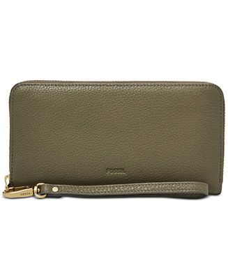 Fossil Emma RFID Large Zip Wallet - Handbags & Accessories - Macy's