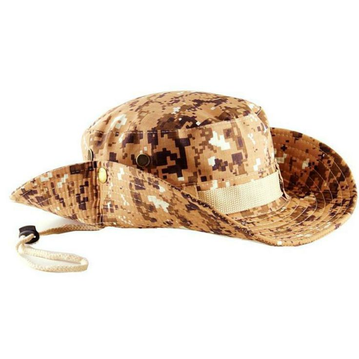 Camo Hunting Hat for Men Cover Military Wide Brim Camouflage Cap Flat Roof Tactical Outdoor Sunscreen Caps for Hunting Fishing
